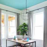 简洁二居室餐边柜灯具装修效果图