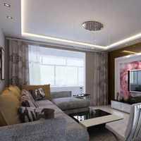 白色系现代客厅三居装修效果图