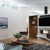 大户型客厅实木茶几装修效果图