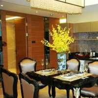 豪华型灯具餐厅装修效果图
