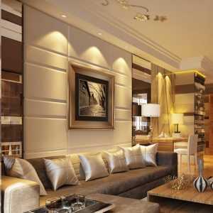 暖色调 时尚大气的客厅与餐厅