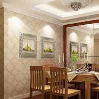 75平美式简洁客餐厅吊顶装修效果图