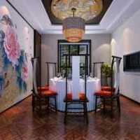 三居客厅吊顶乡村风格客餐厅效果图