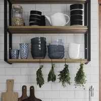 开放式厨房通透整洁干净装修效果图