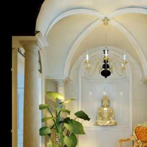 美式装修客厅摆中式荼台