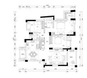 91-120平米三居室少女粉色儿童房床效果图
