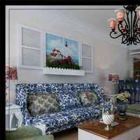 客厅沙发现代简约二居装修效果图