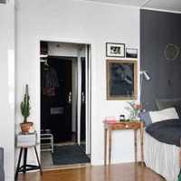地柜现代简约二居客厅局部电视背景墙效果图