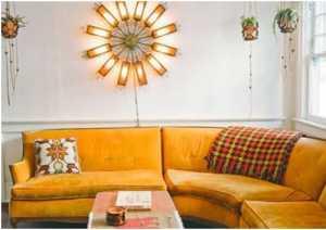 色调相间客厅沙发