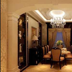 美式书房式客厅装修效果图