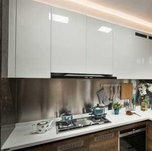 现代风格狭长型厨房效果图效果图