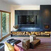 客厅富裕型复式窗帘装修效果图