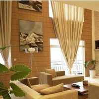 别墅窗帘壁纸头柜装修效果图