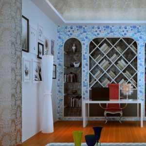 创意家居 时尚温馨书房效果图