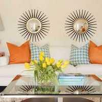 美式浪漫客厅90平米装修效果图