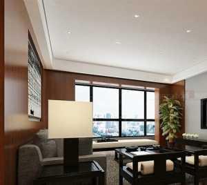 中式風格別墅客廳影視墻裝修效果圖