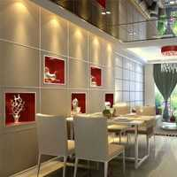 餐厅时尚装饰快餐桌效果图