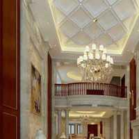 别墅咖啡色灯具美式装修效果图