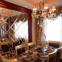 现代餐厅三头水晶吊灯装修效果图