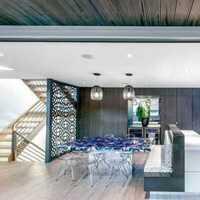 餐具简约中式盆栽餐厅家具装修效果图