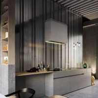 60平两室两厅现代客厅效果图