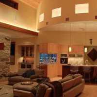 富裕型客廳電視背景墻效果圖