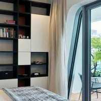 简约卧室头木板墙装修效果图