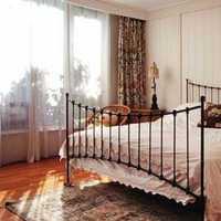 卧室背景墙卧室乡村美式装修效果图