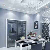 现代两室两厅小户型餐厅装修效果图