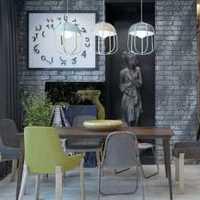 多彩琉璃灯简约餐厅三居装修效果图