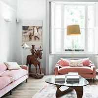现代黄棕色沙发起居室装修效果图