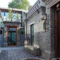 现代自然明亮型别墅庭院装修效果图