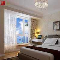 红色卧室婚房茶几装修效果图
