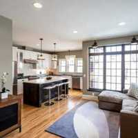 二居客廳現代風格沙發背景墻效果圖