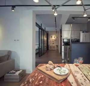 20坪的工业风现代老公寓,尽显黑白色的时尚