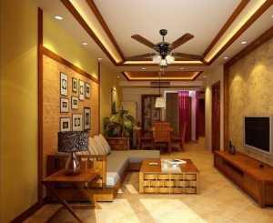 暖色调 时尚大气的客厅装修