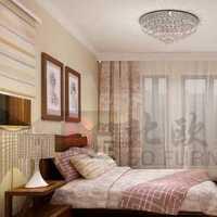 简洁富裕型卧室背景墙窗帘装修效果图