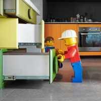 厨房橱柜三角装修效果图