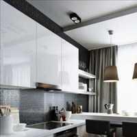 美式厨房滑门装修效果图