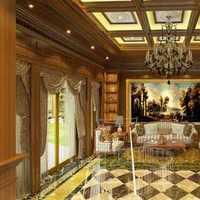 中式风格复式客厅窗帘效果图