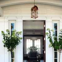 实木平门庭院门装修效果图