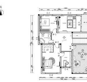 富裕型厨房时尚卧室四居室现代简约中式复式15-30万四居以上白色别墅客厅餐厅