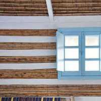 中式壁纸壁灯客厅吸顶灯装修效果图