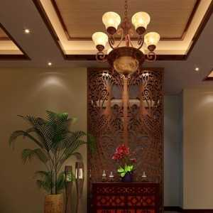 91-120平米三居室中式古典红色超大厨房效果图