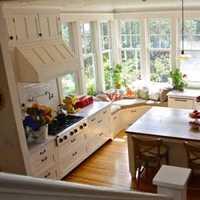 时尚开放式厨房整体橱柜装修效果图