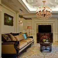 现代别墅客厅挂画展示装修效果图