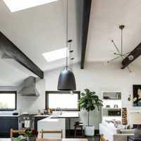 现代别墅黄色艺术型起居室装修效果图