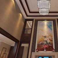 餐厅中式背景墙效果图