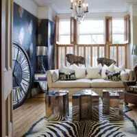 14萬打造豪華歐式風格二居臥室窗簾效果圖