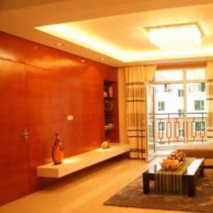 暖色调创意二居室时尚混搭豪华型三居室大气公寓清新30万-50万客厅木器实色中性色120-150平米